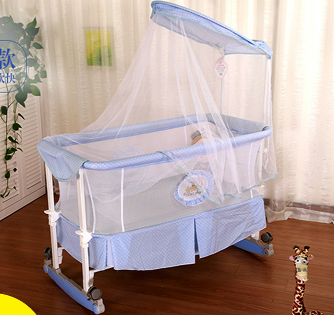 baby cradle crib rocking bed baby, rocking chair newborn children bed BB with mosquito nets roller bed цена