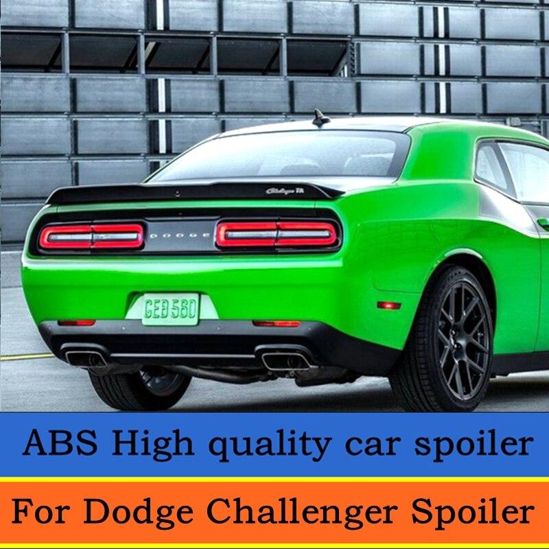 Pour Dodge Challenger Spoiler 2015 2016 2017 2018 aileron arrière de haute qualité matériau ABS apprêt couleur décoration d'aile de queue de voiture