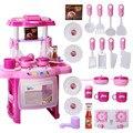 2016 nuevos niños de cocina baby toys for girls cocinar toys niños jugando pretend play toys con efecto de luz y sonido toys