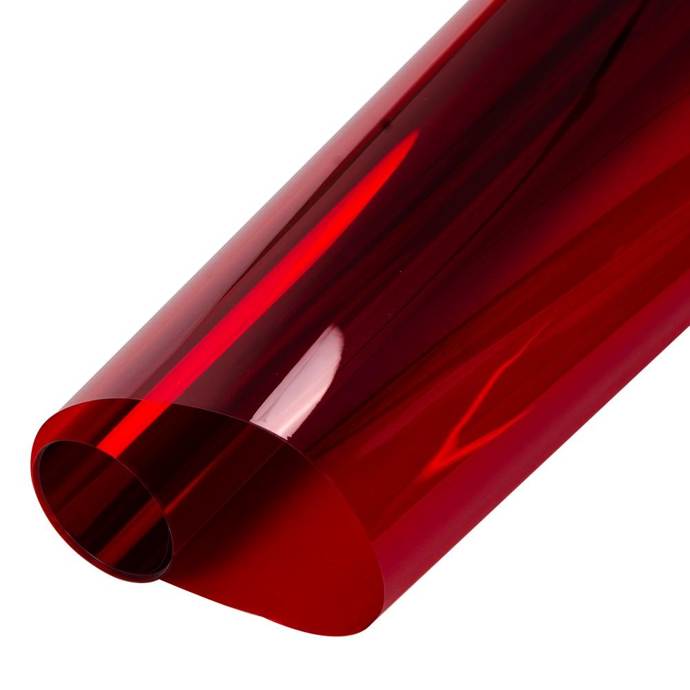 0.5x20 m Vermelho Transparente Janela Filme Matiz Vinil Decal Adesivo Auto adesivo de Vidro de controle de Calor para o Natal decoração Do Partido Do dia - 2