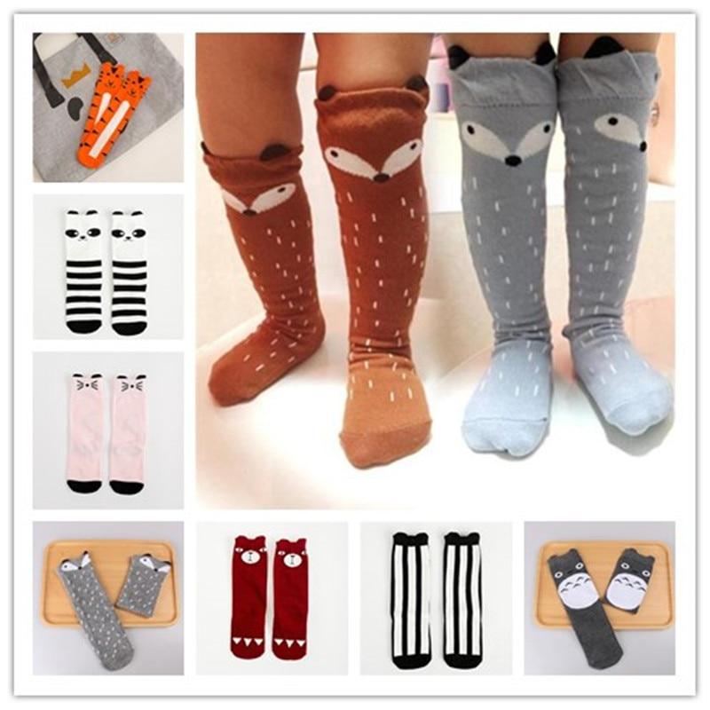 2017 Newborn Kids Girl Boy Animal Pattern Socks Knee High Sock Baby Socks fox Cat Cotton Cute Cartoon infant Toddler Long Socks