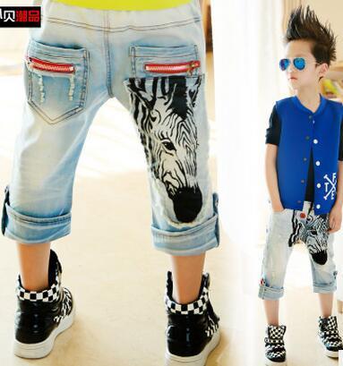Детская одежда 2016 летние брюки дети детские мода семь носки мальчиков джинсы бесплатная доставка n2