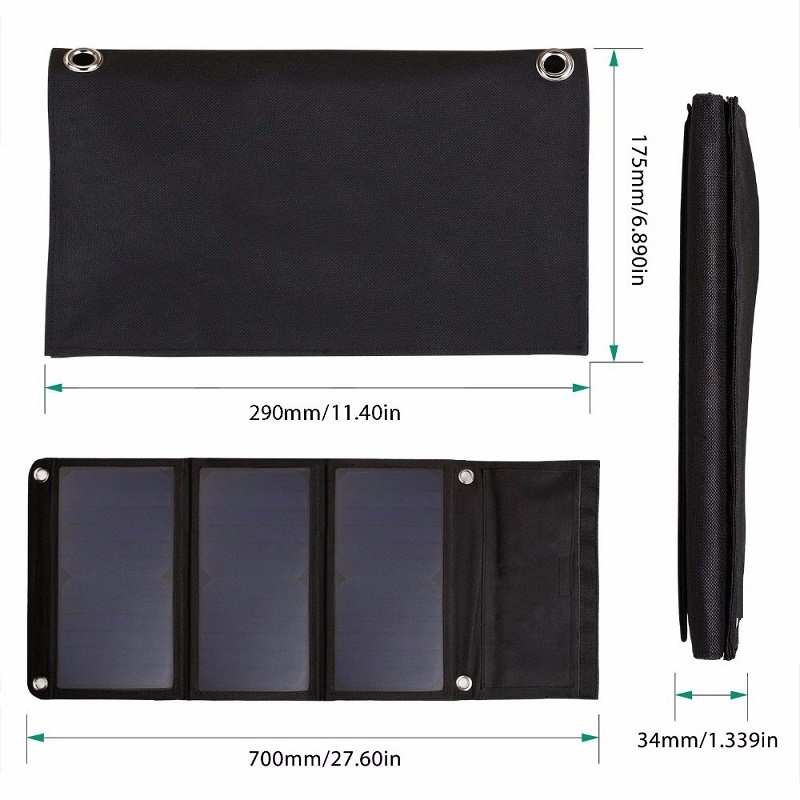 ФОТО Hot 21W 5V Sunpower Portable Solar Charger For MP/Power Bank Solar Panel Battery Charger Dual USB Output 2PCS/Lot Free Shipping
