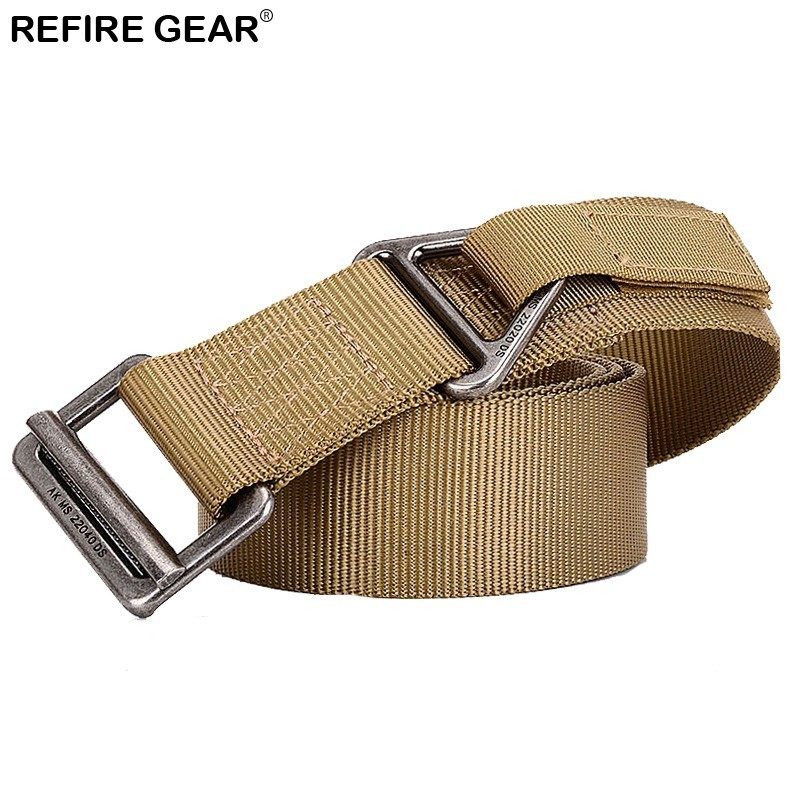 Refire Gear Sports 800d Nylon Thicken Steel Alloy Buckle Waist Belts Men Emergency Survival Heavy Duty Outdoor Tactical Belts