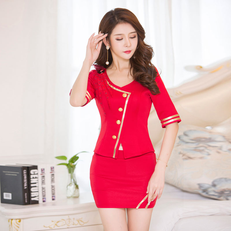Free dress design quality beauty salon massage uniform for Spa uniform female