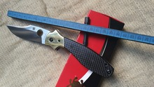 High quality C190 Folding Knives D2 steel Black Carbon fibre Handle Camping Hunt pocket Survival Knife EDC Tool