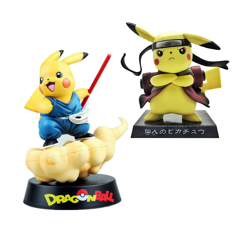 Pikachu cos Naruto Aciton Figurine Japanese Cartoon Dragon Ball Goku Decorations Nendoroid Doll Birthday Gift for BoysPikachu cos Naruto Aciton Figurine Japanese Cartoon Dragon Ball Goku Decorations Nendoroid Doll Birthday Gift for Boys
