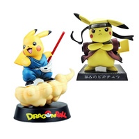 Pikachu cos Naruto Aciton Figurine Japanese Cartoon Dragon Ball Goku Decorations Nendoroid Doll Birthday Gift for Boys