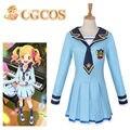 CGCOS Express! Aikatsu Nijino Yume Hoshimiya Ichigo Anime Game Cos Dress Cosplay Costume Uniform Custom-made