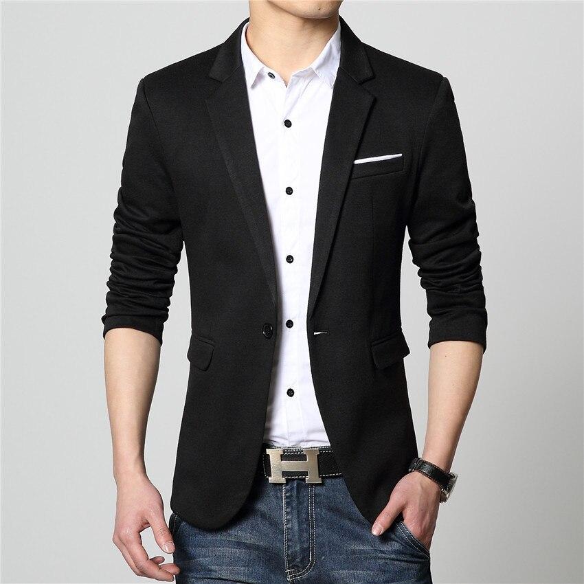 FGKKS Новое поступление Роскошный деловой повседневный костюм, мужские блейзеры, набор профессионального формального свадебного платья красивого дизайна размера плюс M-6XL - Цвет: Black