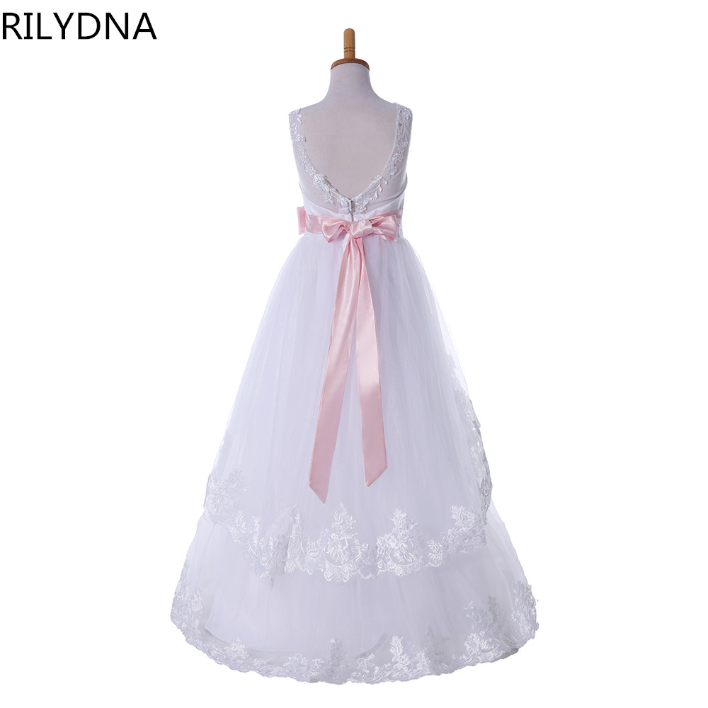 Princess Flower Girl Dress Summer 2019 Tutu Wedding Birthday Party Dresses For Girls Children's Costume Teenager Prom Designs