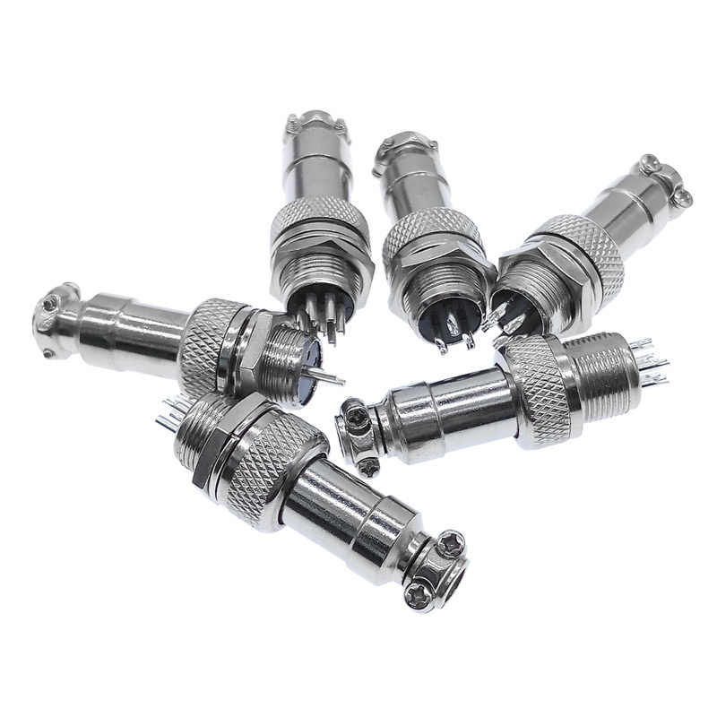 "7/16"" GX12 Aviation Circular Connector  2 Pin 3pin 4pin 5pin 6pin 7pin Male Plug& Female Socket 12mm DF12 M12"