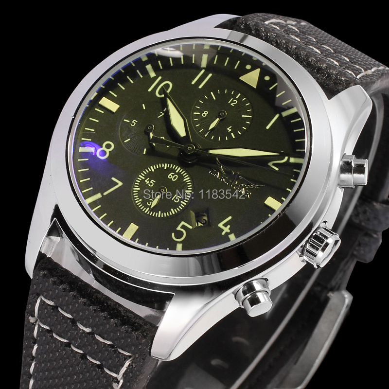 Jargar JAG6904M3S3 new men Automatic fashion dress watch silver color wristwatch with black leather band free shipping все цены