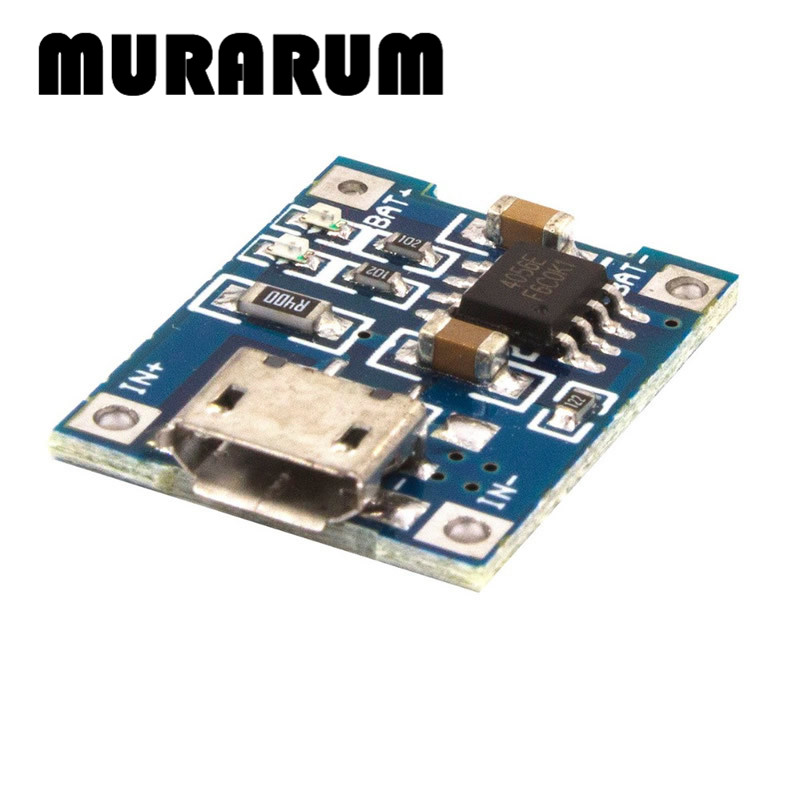 MURARUM C0006 5PCS Micro USB TP4056 1A dedicated lithium battery charging pad charging module lithium battery charger module 5pcs 5v 1a micro usb 18650 li ion lithium battery charging protection board charger module tp4056 for arduino