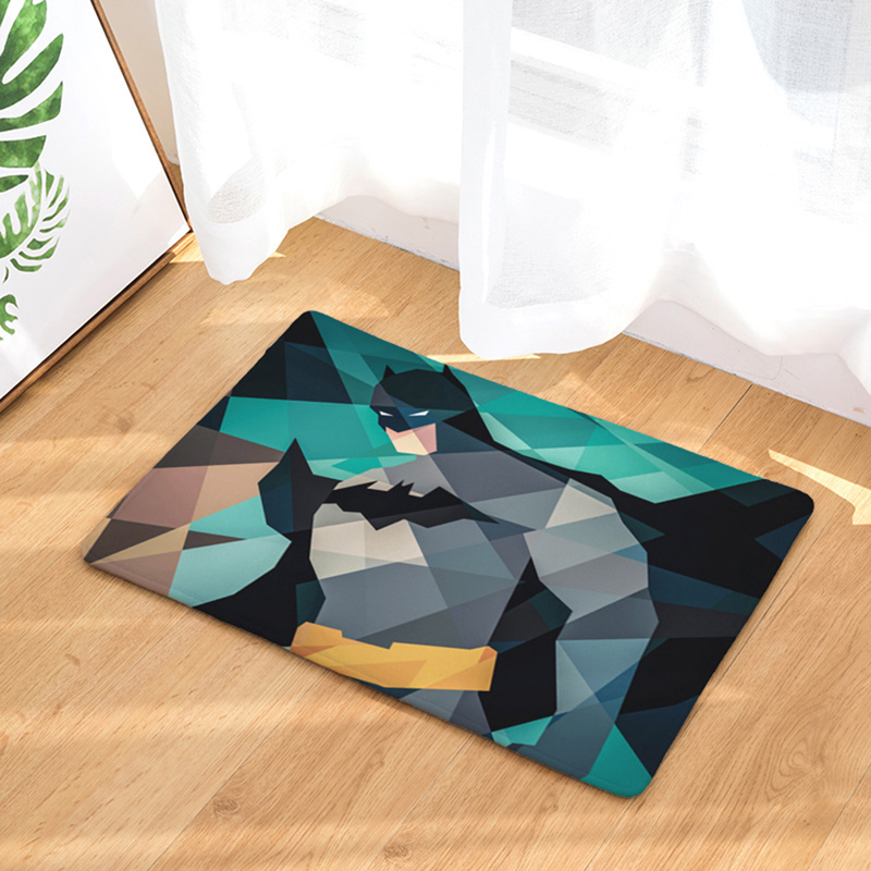 HomeMiYN, современный коврик для ванной, коврик для двери, геометрический, супер герой, Бэтмен, фланелевый коврик для ванной, Противоскользящие ...