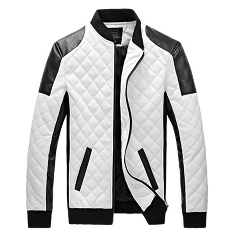 Aliexpress.com : Buy Biker Motorcycle Jacket Quilted PU Leather ...