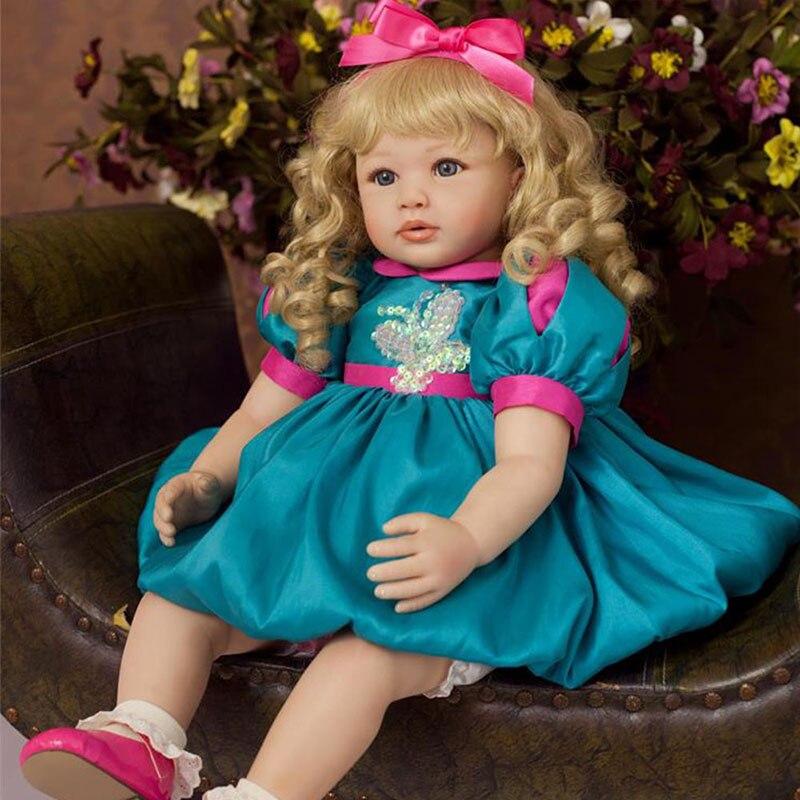 Princess Doll 22 Soft Silicone Handmade Vinyl Reborn Girls Doll Lifelike Simulation Doll Cheap Toys for Children Birthday Gift