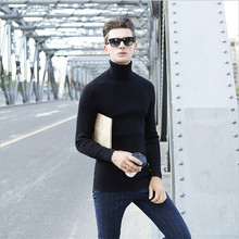 Men'S Turtleneck High Quality Brand Clothing Men'S Sweaters Cardigan Male Turtleneck Solid Color Mens Sweaters Ms987