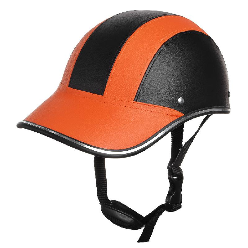 baseball cap style motorcycle helmet adjustable motocross half open face helmets soft bike under hat helme