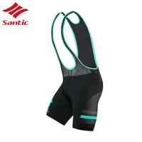 Santic Bicycle Shorts Cycling Bib Shorts Men Summer Breathable triathlon cycling bib With Italy Pro Sponge Pad Culotte Ciclismo