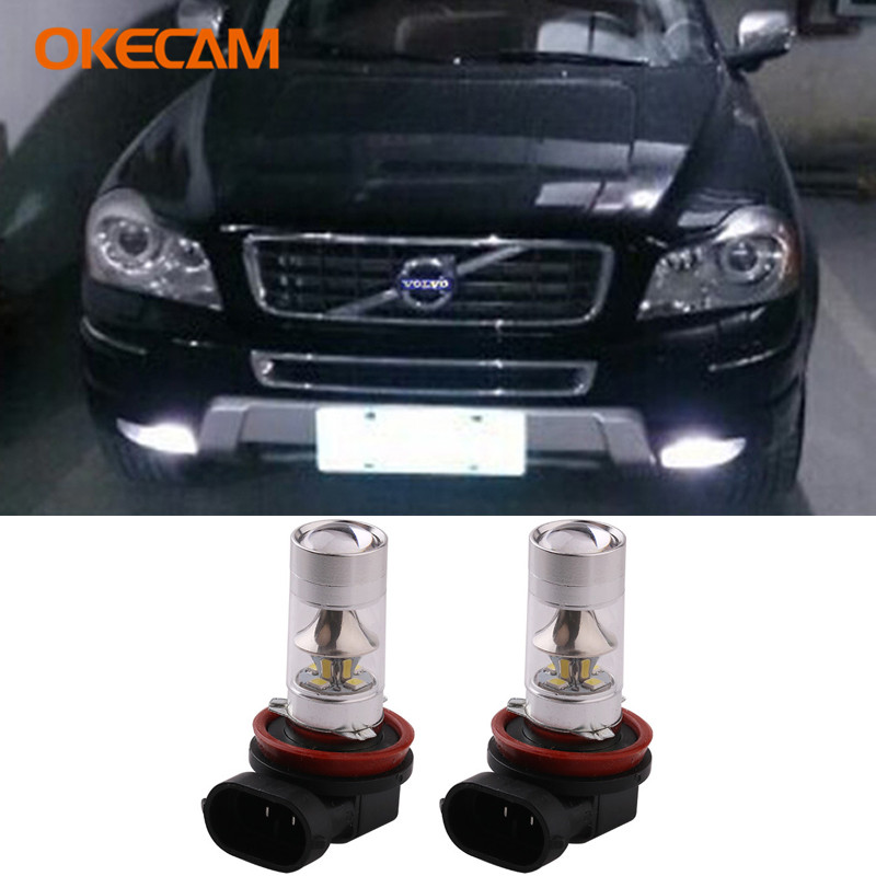 2Pcs H8 H11 LED Bulb Car Fog Lights DRL Lamp For <font><b>Volvo</b></font> XC90 S60 V70 S40 S80 XC60 V40 V50 XC70 C30 V60 850 S70 S90 V90 <font><b>XC</b></font> <font><b>90</b></font> S60L image
