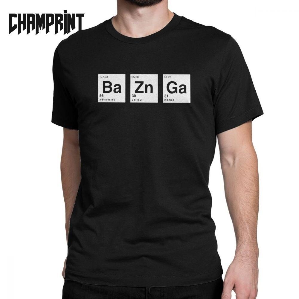 Men The Big Bang Theory Breaking Bad Bazinga T Shirts Sheldon Cooper Geek TBBT Tops Short Sleeve Tee Shirt Gift Idea T-Shirt