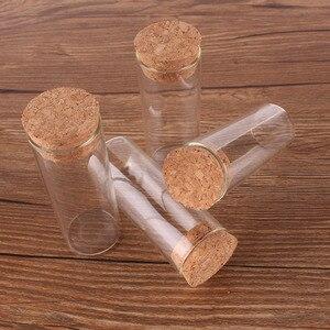 Image 3 - 24 adet 30 ml boyutu 27*70mm test tüpü Mantar Tıpa ile Baharat Şişeleri saklama kavanozları Şişeler DIY Zanaat