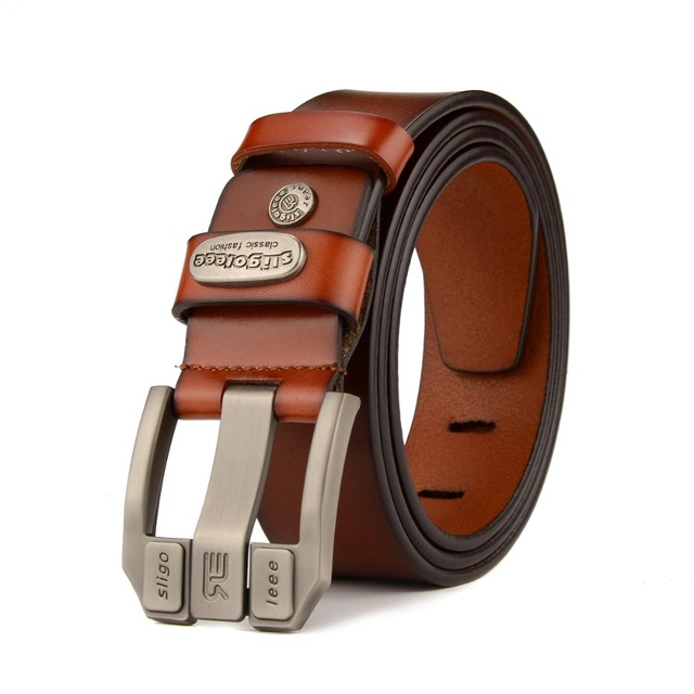 2017 designer high quality  luxury brand genuine leather  pin buckle belts for men fashion business men belts cinto masculino