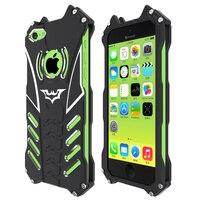 R Just For Iphone 5c Case Heavy Duty Protection Metal BATMAN Phone Case With BATMAN Bracket
