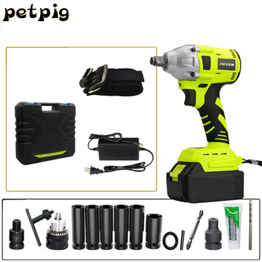 Electric Wrench Rechargeable Multitool Power Tools Cordless Screwdriver Drill Impact Wrench Woodworking Hand Tools Set Spanners