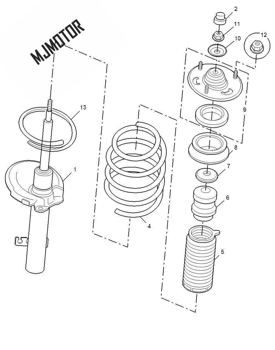 Amortisseur assy. Avant gauche et droite pour chinois SAIC ROEWE 550 MG6 Autocar partie moteur 10012692/10012699 - 6