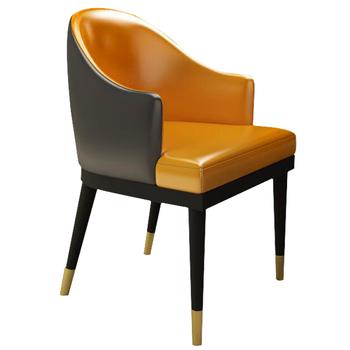 Nowoczesny Design krzesła relaksacyjne krzesła hotelowe krzesła stołowe na meble do salonu tanie i dobre opinie rama dymasty 800mm Jadalnia meble pokojowe 83*52*50CM Minimalistyczny nowoczesny Jadalnia krzesło MS94 Meble do domu Skóra syntetyczna