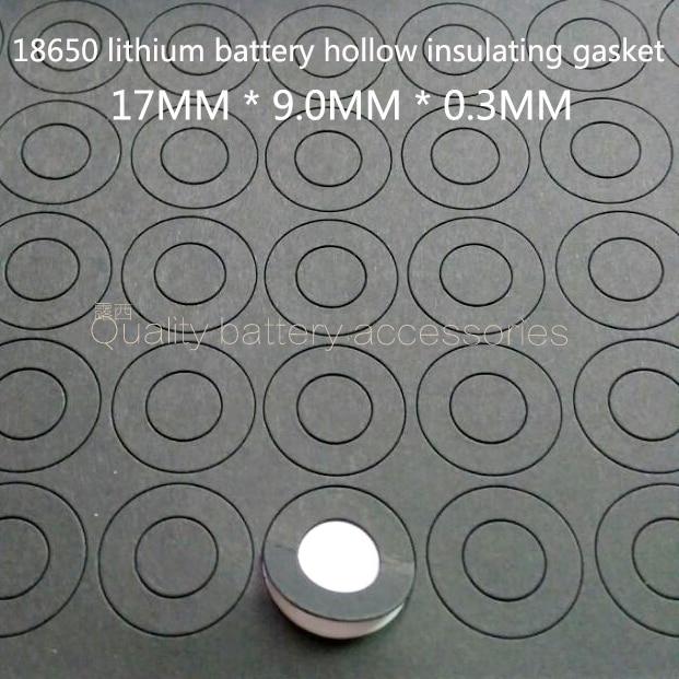 Eletrodo positivo da bateria de lítio 100Pcs 18650 oco flat head pad isolamento almofada méson 18500 superfície positivo 17*9.0*0.3