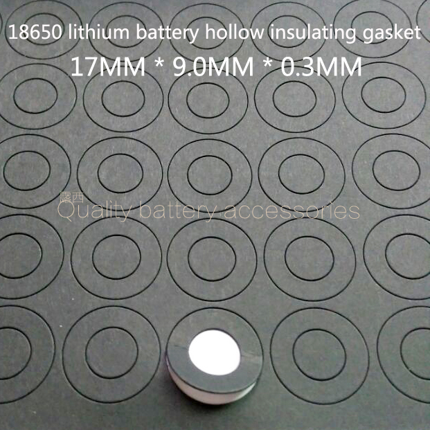 100Pcs 18650 Lithium Battery Positive Electrode Hollow Flat Head Insulation Pad Meson 18500 Positive Surface Pad 17*9.0*0.3