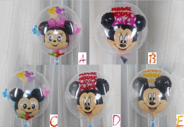 50 pcs boules D'air Clair Mickey Minnie ballons de fête D'anniversaire cadeaux festival décoration de vacances fournitures balões boules Transparentes