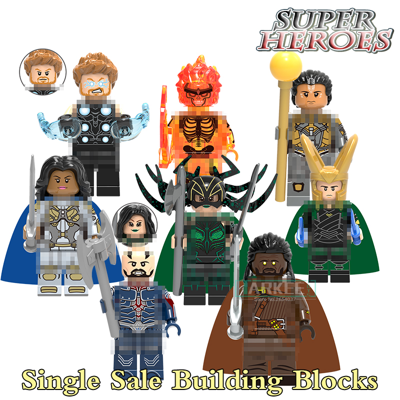 Single Sale Building Blocks Surtur Valkyrie Excutioner Super Heroes Model Toys Hobbies Children Gifts Bricks Marvel DIY Figures single building blocks kits ninja pythor kozu lloyd zane nya figures super heroes star wars model bricks kids toys hobbies x0143