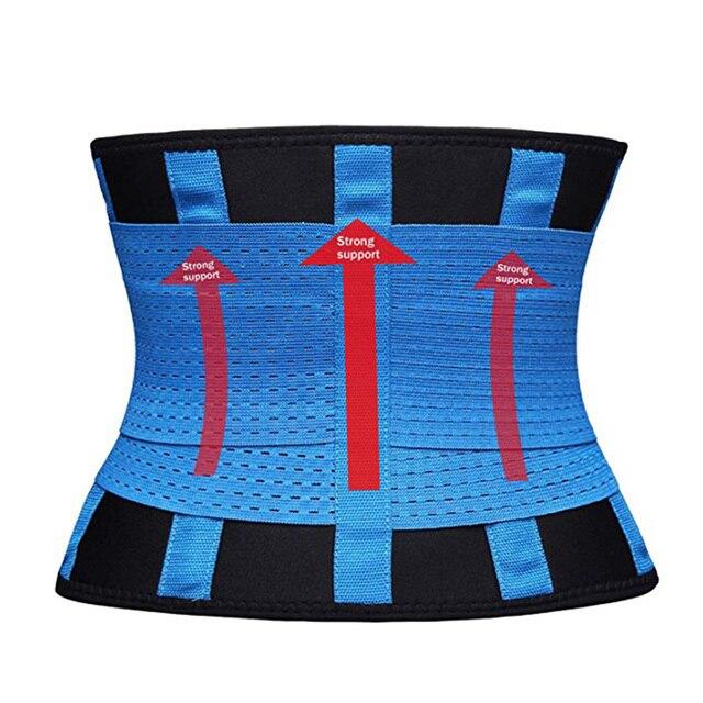 Plus Size S-3XL Firm Waist support belt Sweat Belt Slimming Women waist support unisex back support Fitness waist trimmer