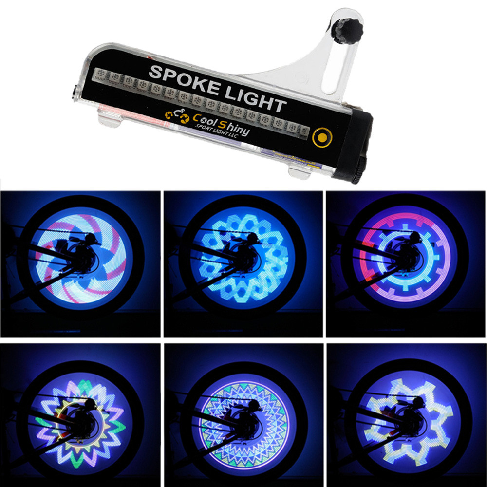 32 LED Motorcycle Cycling Bicycle Bike Wheel Signal Tire Spoke Light 21 Changes Mini Bicycle Cycling Led Lamps Bike Accessories