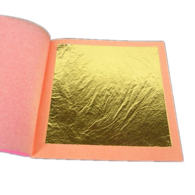 Genuine Gold Leaf Sheets 24 K Gold - by GOLDBURG - 1 booklet of 25 sheets - Craft Gilding Docoration - Profession Quality