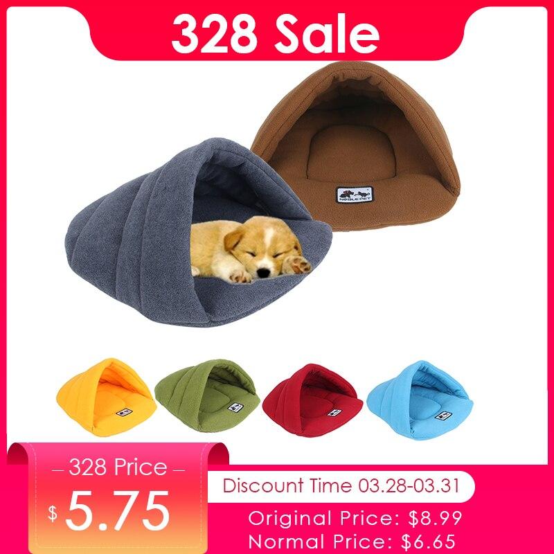 6 colores Polar suave perro de invierno para mascotas caliente Mat pequeño cachorro de perro perrera casa para gatos durmiendo bolsa nido cama cueva
