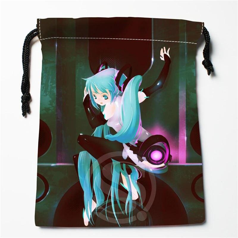 W-164 New Anime Hatsune Miku &Q Custom Logo Printed  Receive Bag  Bag Compression Type Drawstring Bags Size 18X22cm R801R164TQ