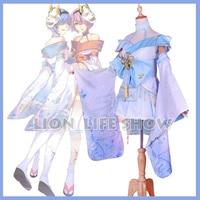 Cosplay Costume Cute Maid Uniform Anime Re Zero Ram Rem Sweet Lolita Dress
