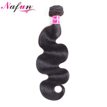 NAFUN Hair Body Wave Brazilian Hair Weave Bundles Natural Color Human Hair Extensions Non Remy Bundles Can Buy 3 or 4 Bundles(China)