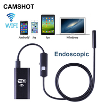 CAMSHOT Wifi Endoscope Camera For Ios Android Phone Waterproofing 8mm Micro Borescope Probe Mini Cameras Detection