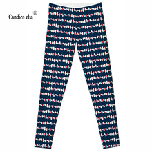 купить 2016 Women  LEGGINGS - LIMITED Leggigs Digital Print Fashion Finessw Pant Punk  blue colour and cute candy  free shipping дешево