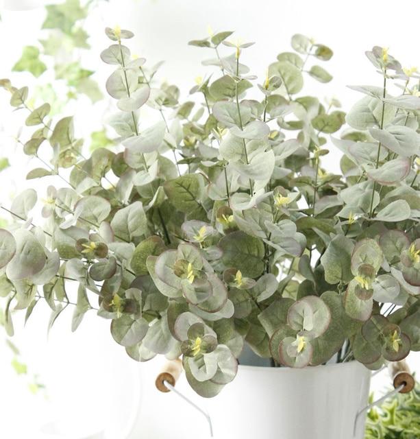 5pcs artificial silk australia eucalyptus tree branches fall home