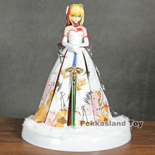 Fate Stay night Anime Fate/Extella Saber Arturia and Altria kimono Suit Ver. with LED Base Statue Figure Model Toys(China)