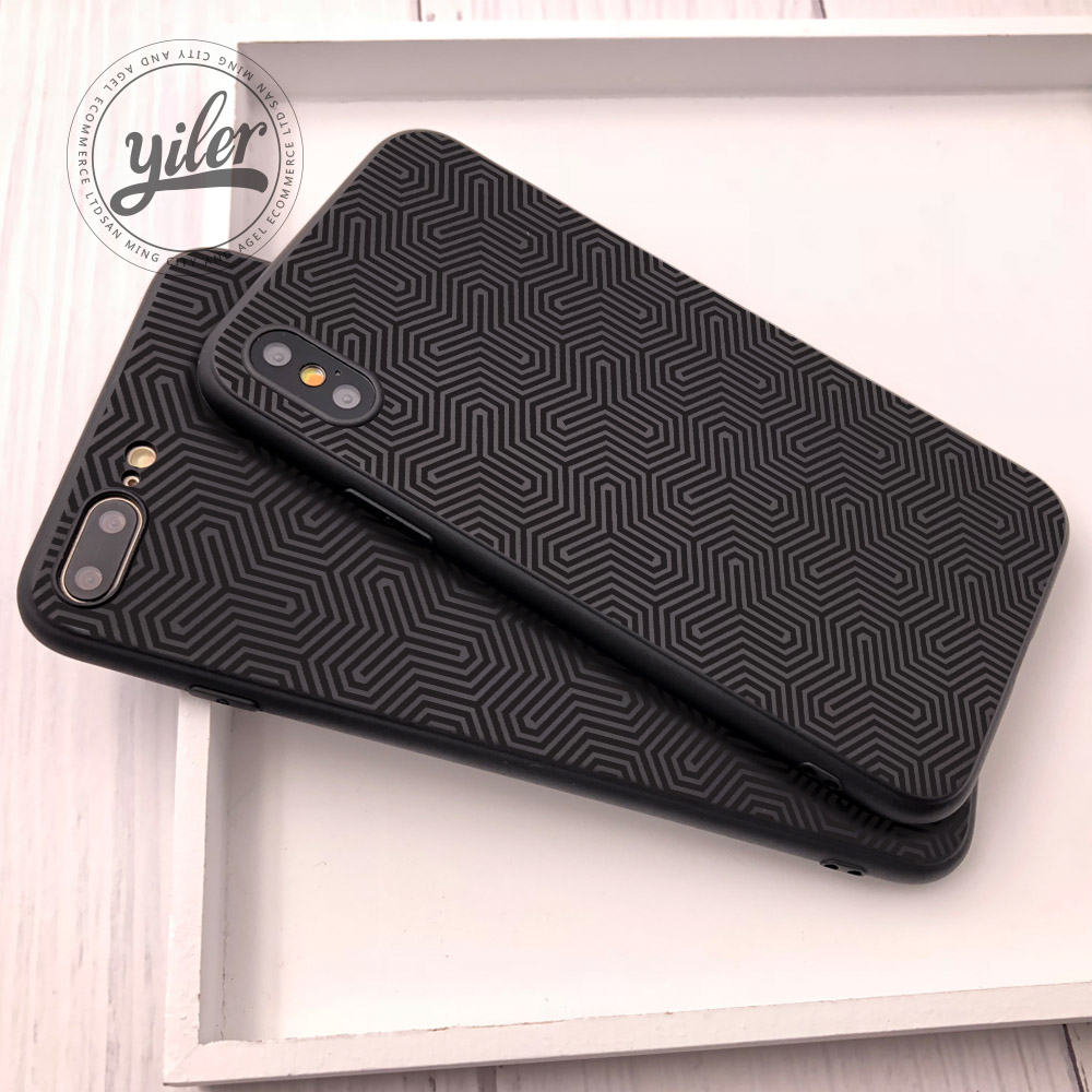Fashion Concavity Texture Coque for iPhone XS Max case for iPhone 7 Plus 5 5S SE 6 6S 7 8 Plus X XS XS Max XR Cases in Half wrapped Cases from Cellphones Telecommunications