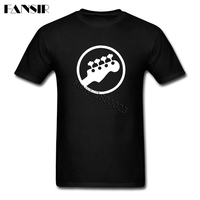 XS 3XL Bass Headstock Guitar Geek Tees Shirt For Men Short Sleeve Crewneck Cotton Men T