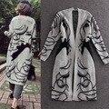 Outono camisola nova camisola versão Coreana de mulheres grávidas solto tamanho grande camisola camisola jaqueta xale